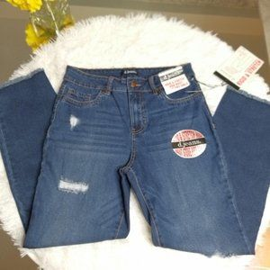 D.Jeans Rigid & Stretch High Waist Stove Pipe Ankl